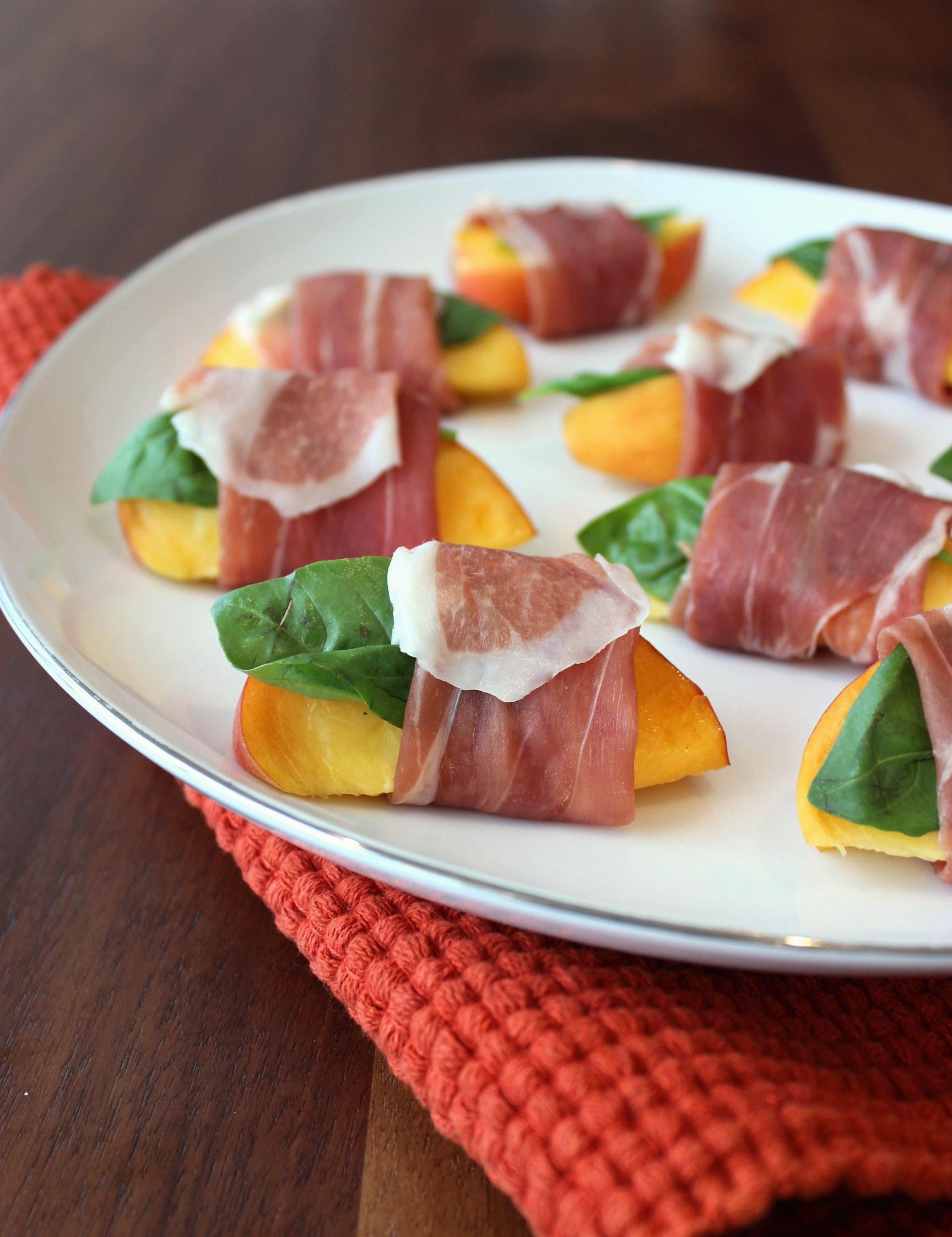 Prosciutto di Parma Wrapped Peaches - Prosciutto Di Parma