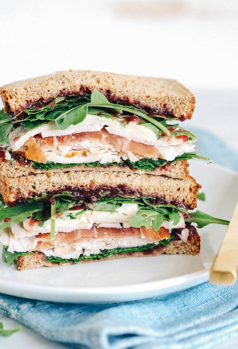 Prosciutto Sandwich With Turkey And Cranberry Sauce Prosciutto Di Parma